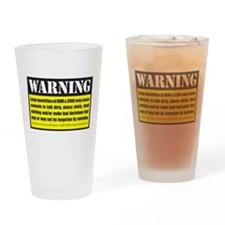 WARNING Rum & Coke Drinking Glass
