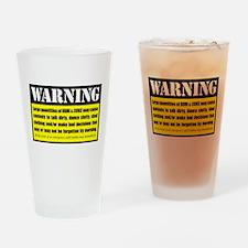 WARNING Rum & Coke Drinking Glass