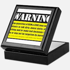 WARNING Rum & Coke Keepsake Box