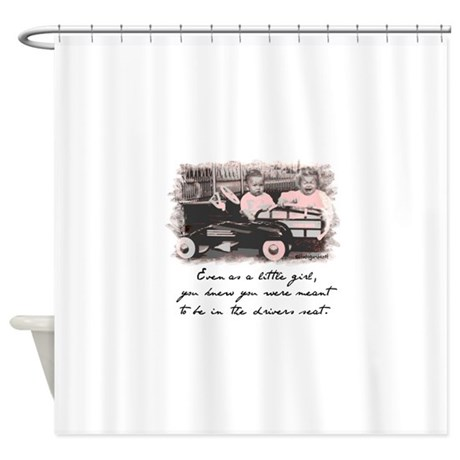 Little Girl And Firetruck Shower Curtain By Studiogumbo