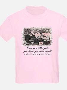 Little Girl and Firetruck T-Shirt