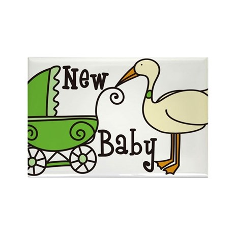 New Baby Rectangle Magnet