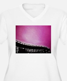 Roller Coaster in Pink T-Shirt