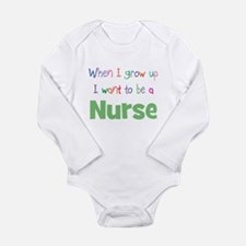 Cute I want nurse Long Sleeve Infant Bodysuit