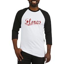 Flores, Vintage Red Baseball Jersey