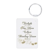 Twilight Saga Dates Sparkly Keychains
