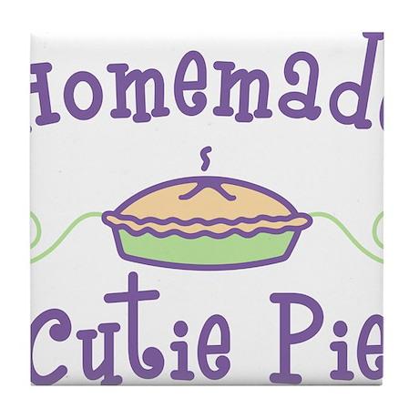 Homemade Cutie Pie Tile Coaster