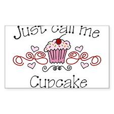 Just Call Me Cupcake Decal