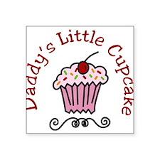 "Daddys Little Cupcake Square Sticker 3"" x 3"""