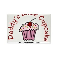 Daddys Little Cupcake Rectangle Magnet