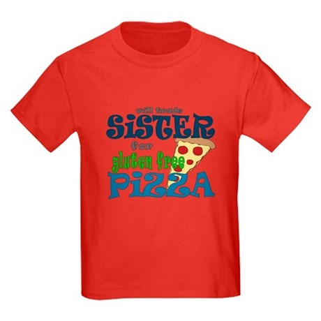 Gluten free pizza Kids Dark T-Shirt