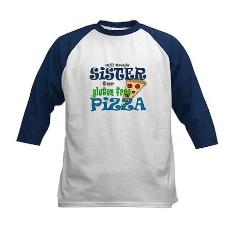 Gluten Free Pizza Kids Baseball Jersey