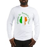 Irish Tricolor Shamrock Long Sleeve T-Shirt