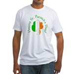 Irish Tricolor Shamrock Fitted T-Shirt