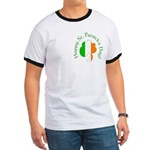 Irish Tricolor Shamrock Ringer T