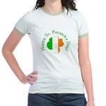 Irish Tricolor Shamrock Jr. Ringer T-Shirt