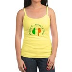 Irish Tricolor Shamrock Jr. Spaghetti Tank
