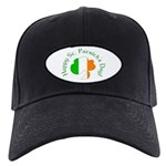 Irish Tricolor Shamrock Black Cap
