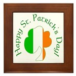 Irish Tricolor Shamrock Framed Tile