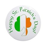Irish Tricolor Shamrock Ornament (Round)
