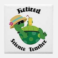 Retired Science Teacher Gift Tile Coaster