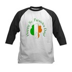 Irish Tricolor Shamrock Kids Baseball Jersey