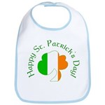 Irish Tricolor Shamrock Bib