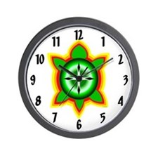 SOUTHEASTERN TRIBAL TURTLE Wall Clock