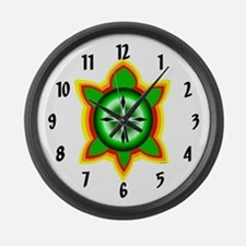 SOUTHEASTERN TRIBAL TURTLE Large Wall Clock