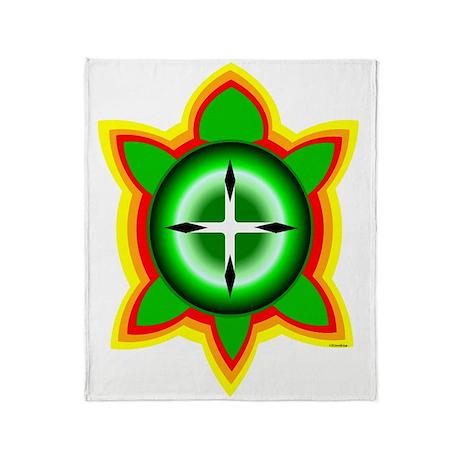 SOUTHEASTERN TRIBAL TURTLE Throw Blanket
