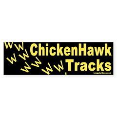 Chicken Hawk Tracks Bumper Bumper Sticker