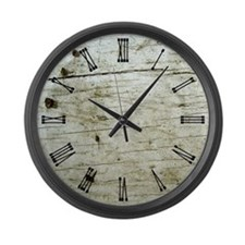 Rustic Knotty Wood Large Wall Clock