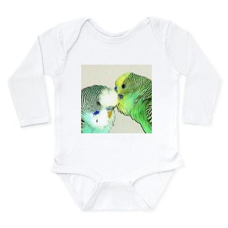 WHISPERING PARAKEET Long Sleeve Infant Bodysuit