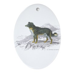 Shepherd Dog Oval Ornament