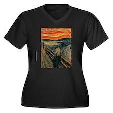 The Scream by Edvard Munch Women's Plus Size V-Nec