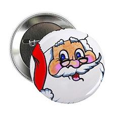 """Here Comes Santa 2.25"""" Button"""
