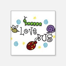 "Love Bug Square Sticker 3"" x 3"""