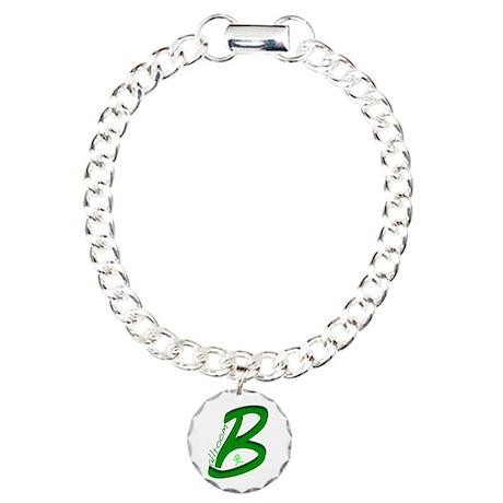 Ballroom Handwritten Green Charm Bracelet, One Cha