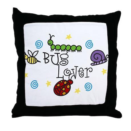Bug Lover Throw Pillow
