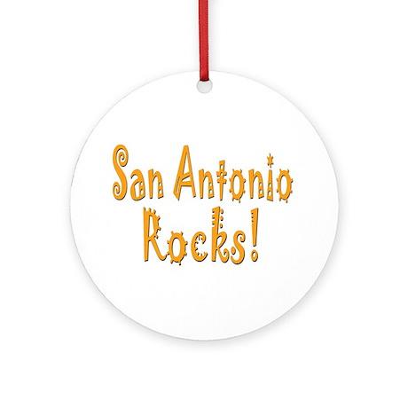 San Antonio Rocks! Ornament (Round)