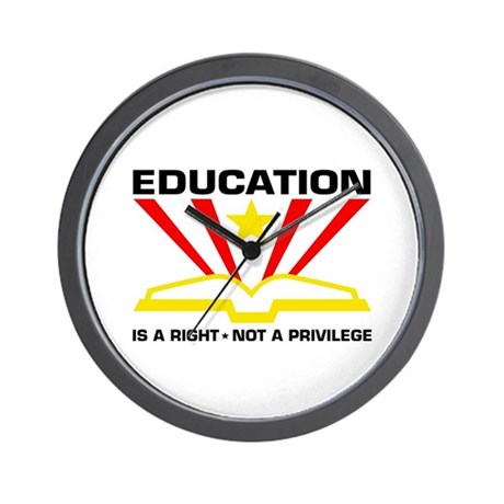 Education is a Right Wall Clock
