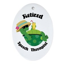Retired Speech Therapist Gift Ornament (Oval)