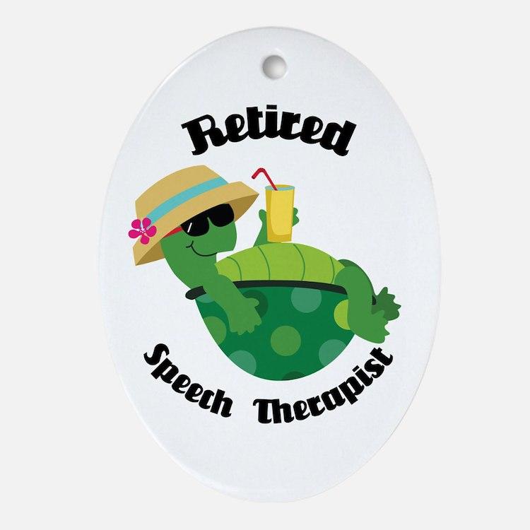 Retired Speech Therapist Gift Ornament (Oval)