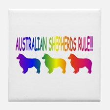 Australian Shepherd Dog Tile Coaster