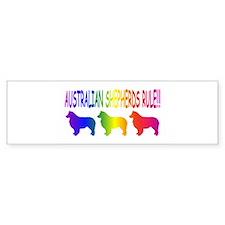 Australian Shepherd Dogs Bumper Bumper Sticker