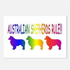 Australian Shepherd Dogs Postcards (Package of 8)