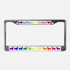 Australian Shepherd Dogs License Plate Frame