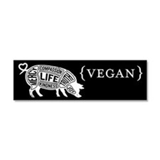 Words to Live By Pig Car Magnet, Black