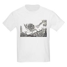 Front & Back Illustrations-Kids T-Shirt