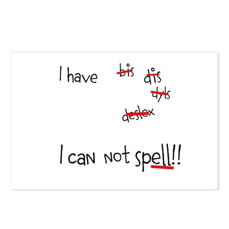 I can not spell!! Postcards (Package of 8)